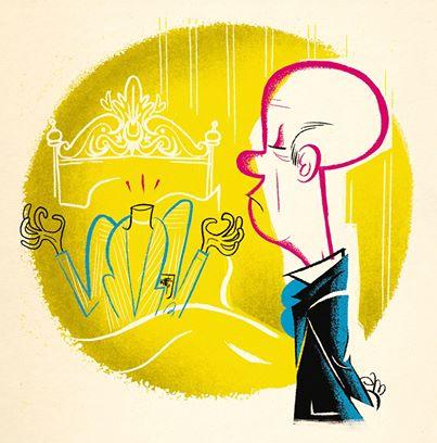 """Ilustración de Lorenzo Montatore para """"¿Dónde está mi cabeza?"""" de Galdós."""