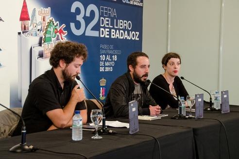 Borja González, Rui Díaz y Mayte Alvarado. Foto: Virginia Esquilichi.