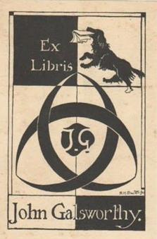 Ex libris John Galsworthy.