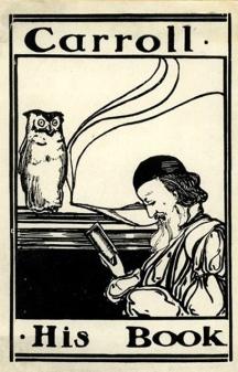 Ex libris Lewis Carroll.