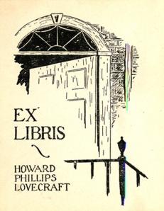 Ex libris HP Lovecraft; diseño: Wilfrid B. Talman.