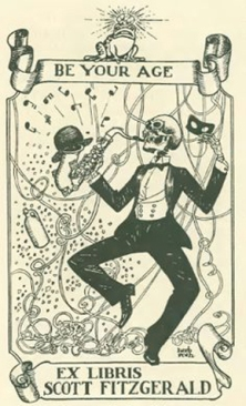 Ex libris Scott Fitzgerald; diseño: Herb Roth.
